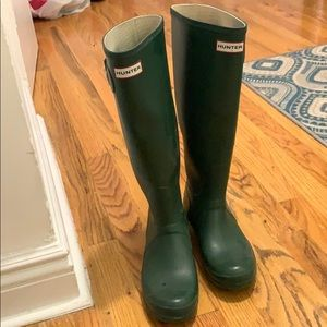 Green Size 8 Hunter Original Tall Rain boots